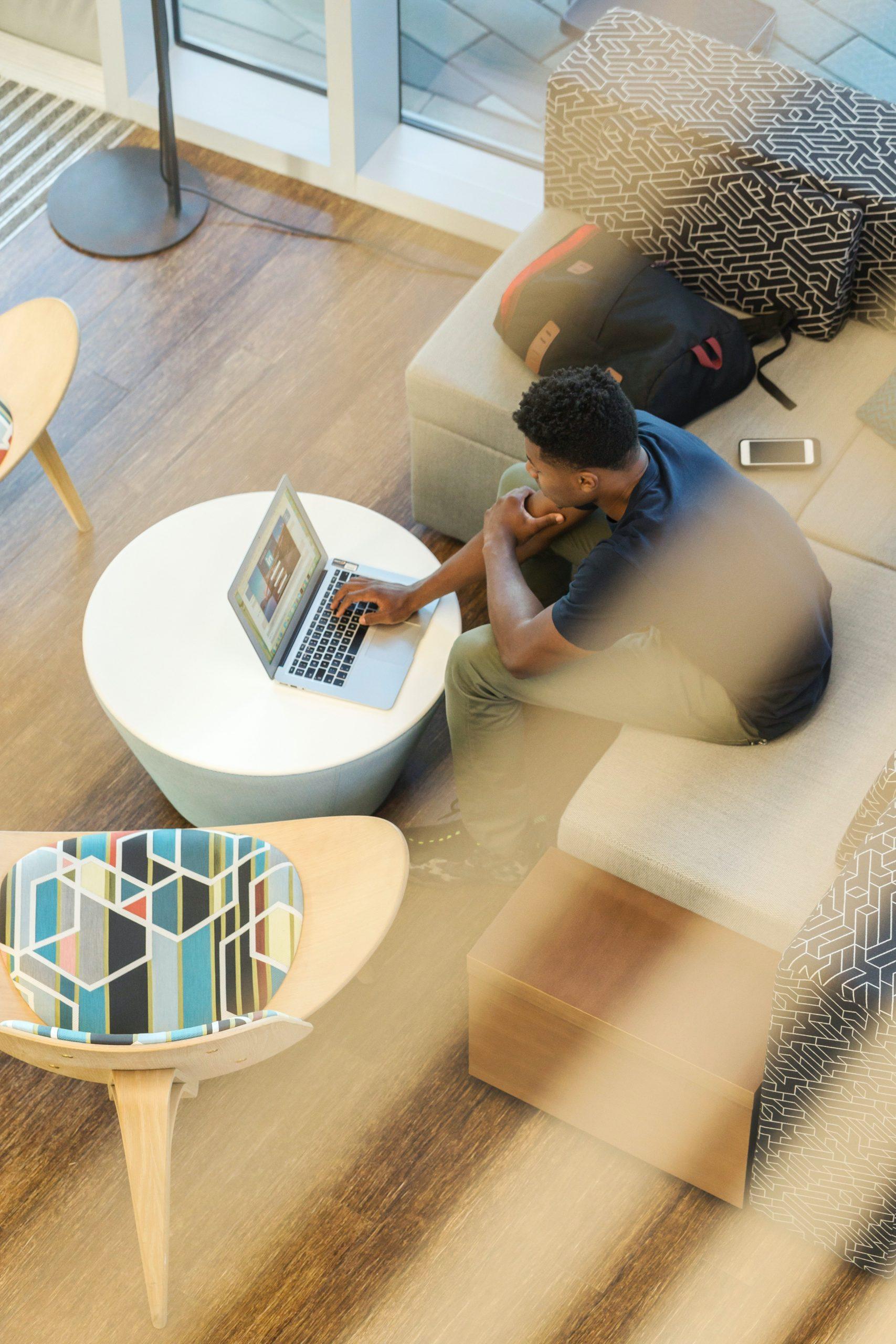 man booking a digital marketing call with Creative Partner