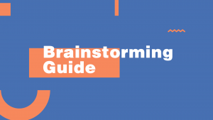 learn how to do a brainstorming