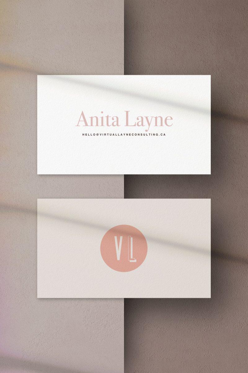 Anita Layne - Creative Partner business card client