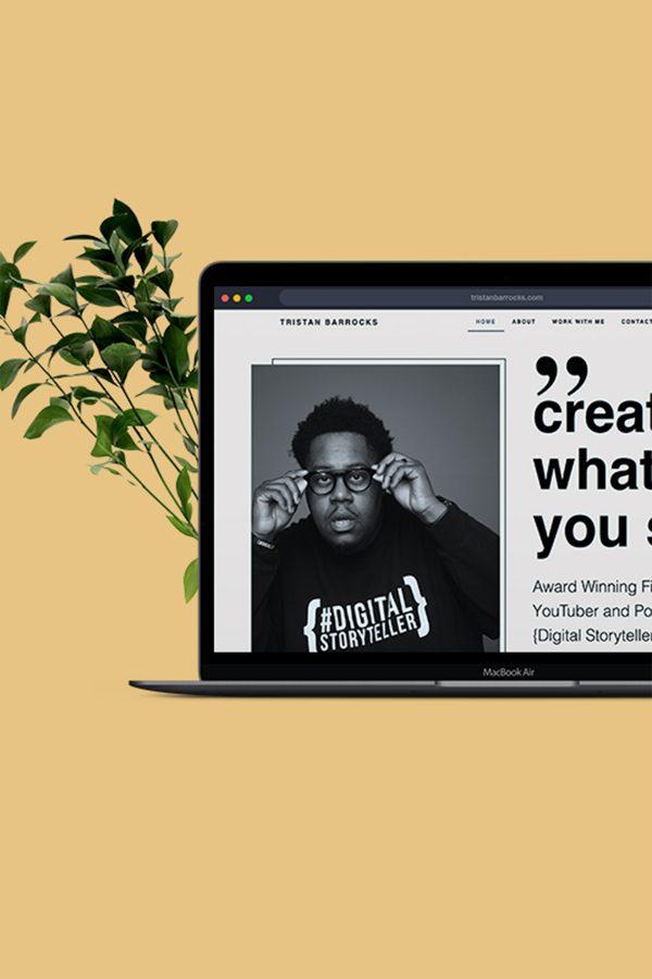 Tristan Barrocks - Creative Partner website client